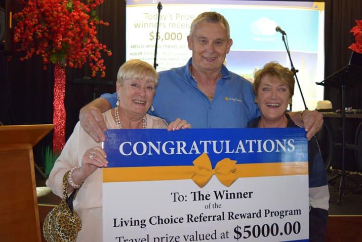 Retirement winner